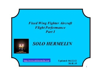 13 fixed wing fighter aircraft- flight performance - i