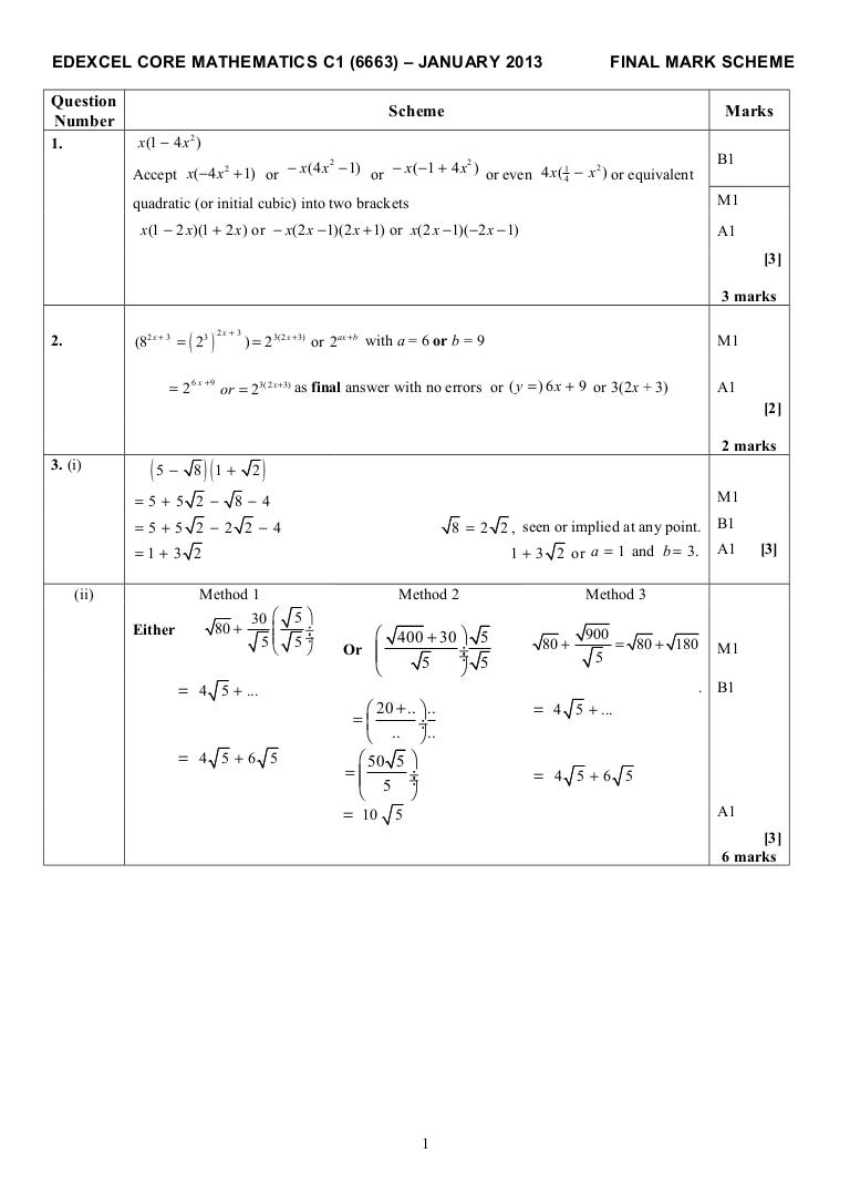 Edexcel gcse maths june 2012 mark scheme paper 2