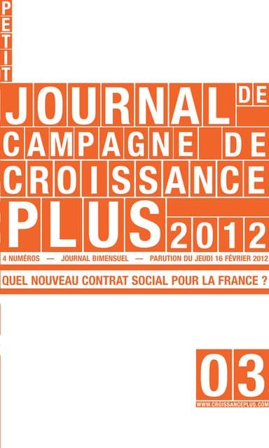 Le Petit Journal de Campagne - Numéro 3