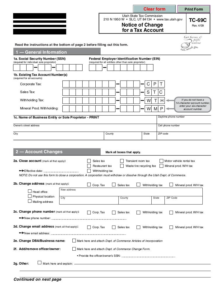 Tax.Utah.Gov Forms Current Tc Tc-69C