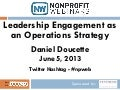 Leadership Engagement as an Operations Strategy