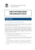 Plan d'optimalisation des services de police