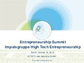 "Entrepreneurship Summit 2013 in Berlin: Präsentation ""EIT ICT Labs"" von Dr. Udo Bub"