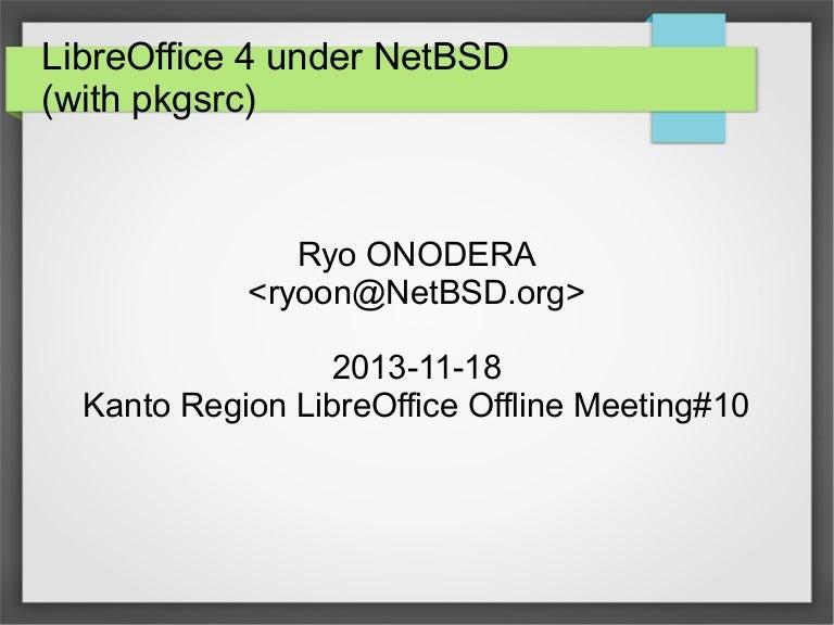 LibreOffice 4 under NetBSD with pkgsrc (en)