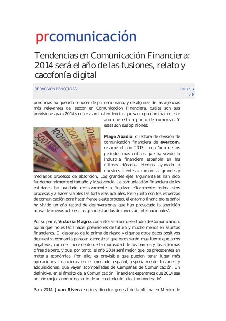 Tendencias en Comunicación Financiera