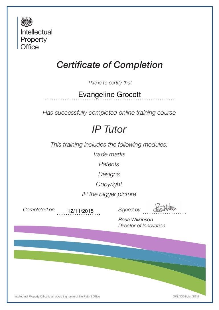 Ipo tutor certificate xflitez Image collections