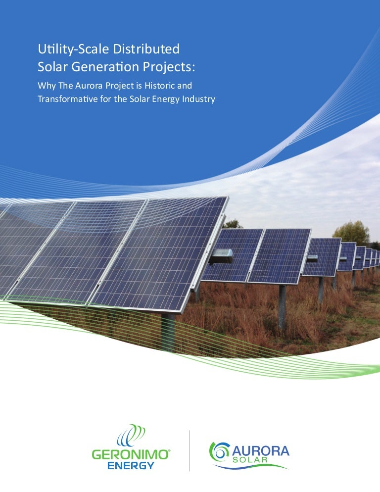 Distributed generation thesis