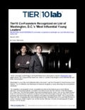 Tier10 Co-Founders Recognized as Washington, D.C.'s 'Most Influential Young Leaders'