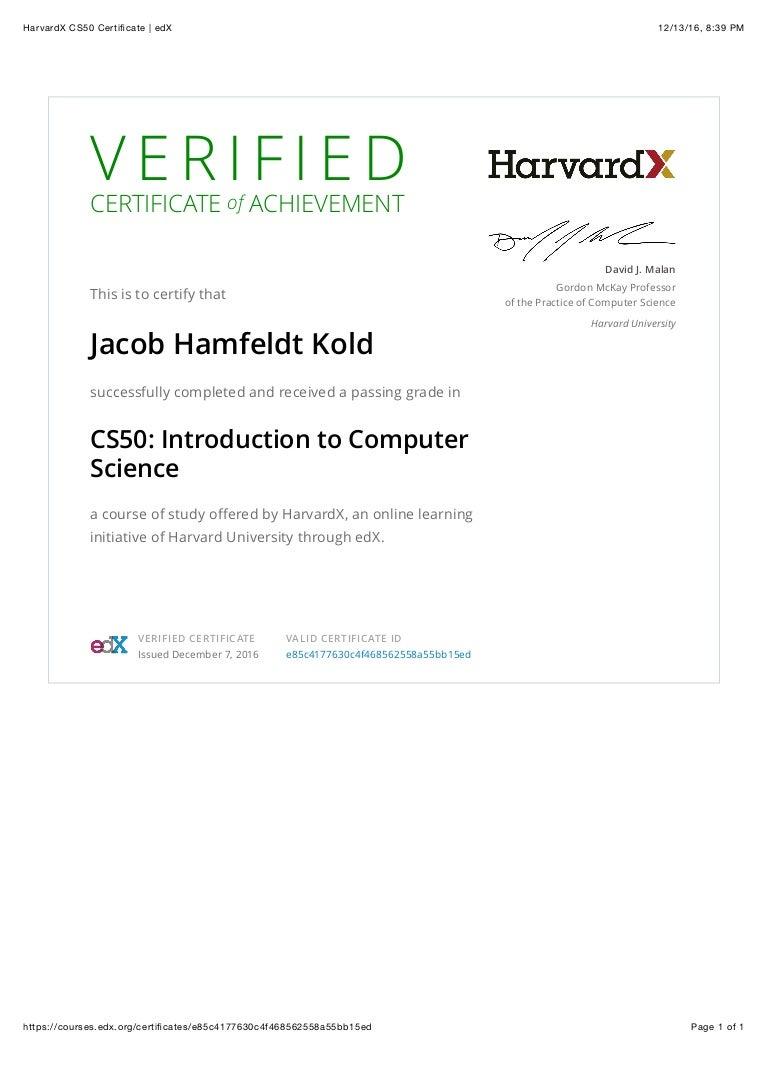 Harvardx cs50 certificate edx 1betcityfo Images
