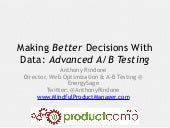 136   advanced a-b testing (anthony rindone)