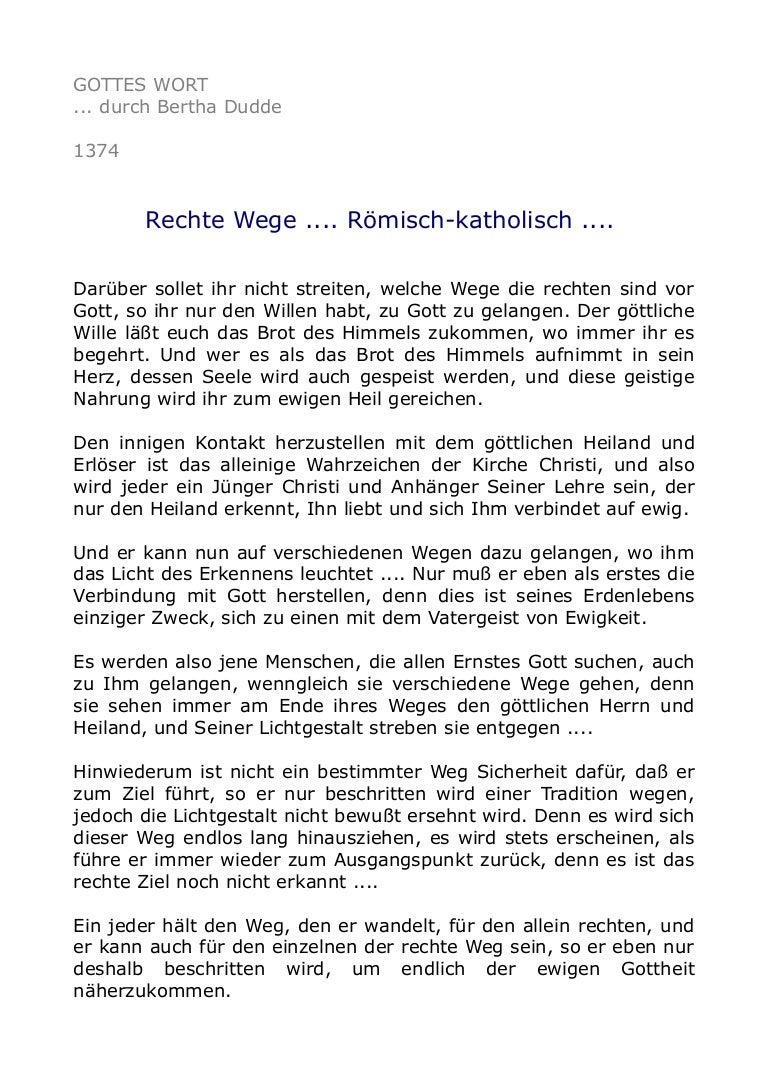 1374 Rechte Wege .... Römisch-katholisch ....