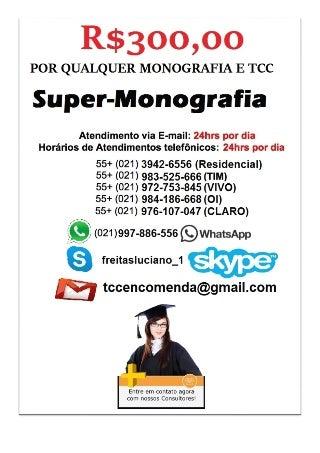 R$350,00 MONOGRAFIA TCC VENDA MONOGRAFIA TCC ABNT VENDA ENCOMENDA COMPRA FORMATAÇÃO PROJETO PLANO DE NEGÓCIO138