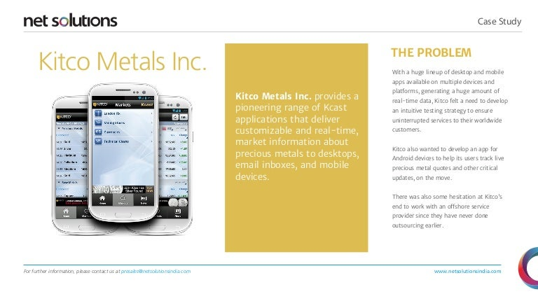Kitco Metal Quotes Kitco Metals Inc Case Study
