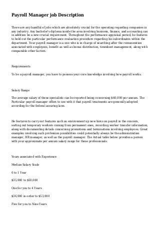 Payroll Manager | Linkedin