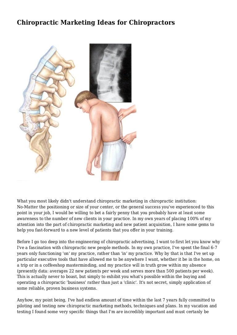 chiropractic marketing ideas for chiropractors