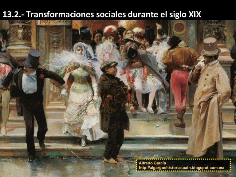 Transformaciones Sociales En Espa 241 A Durante El Siglo Xix