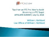 Tips From an FTC Pro: How to Avoid Becoming an FTC Target