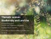 Biodiversity & land use: Policy issues, relevance of MBIs, key findings