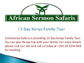 13 Day Kenya Family Tour