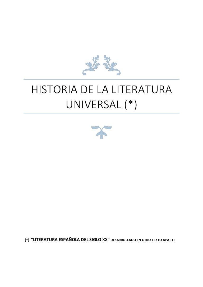 13 Historia De La Literatura Universal