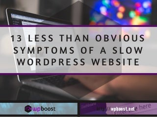 13 Less Than Obvious Symptoms of a Slow WordPress Website
