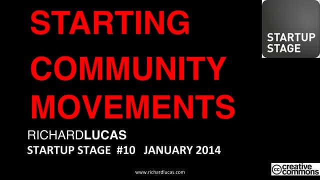 Startup Stage #10 - Meetups - Richard Lucas