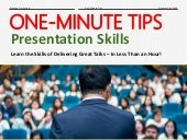 One-Minute Tips: Presentation Skills