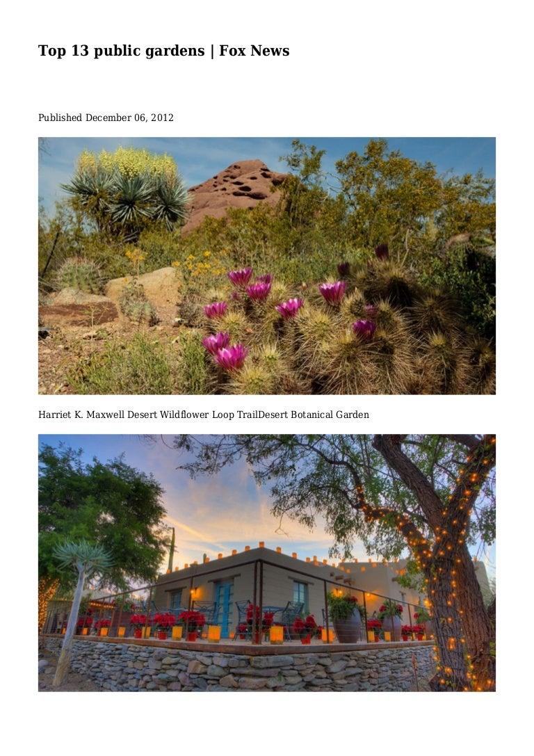 Top 13 public gardens   Fox News