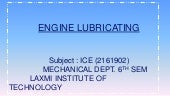 ENGINE LUBRICATING SYSTEM