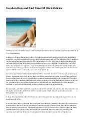 unlimited vacation policy sample