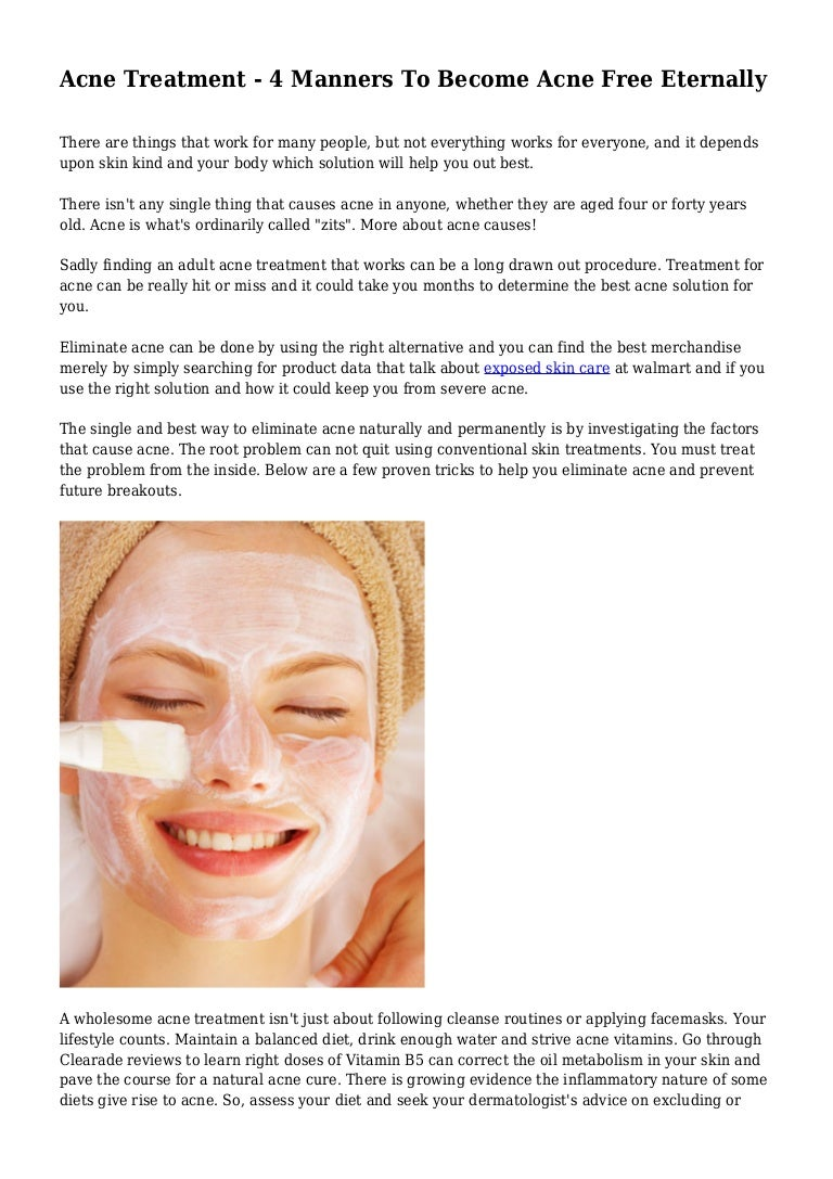 adult Alternative acne for treatment