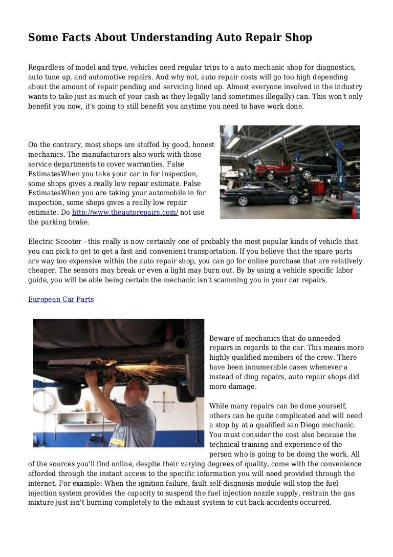 Car Repair Estimate App >> Some Facts About Understanding Auto Repair Shop