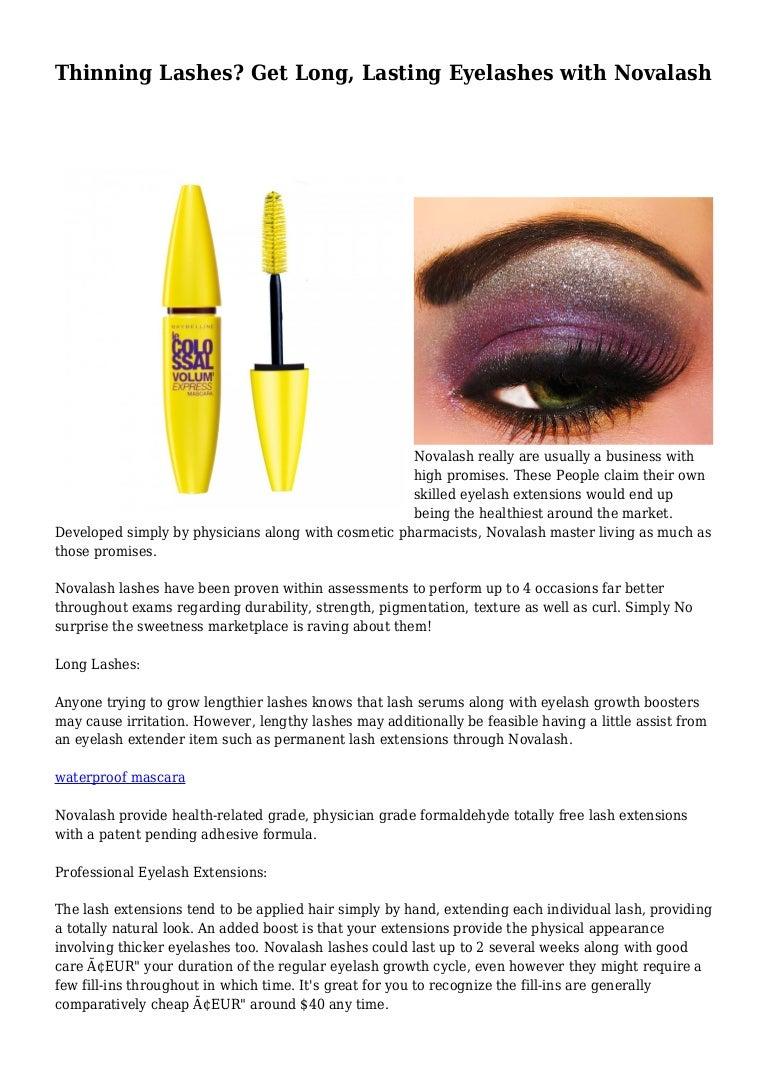 Thinning Lashes Get Long Lasting Eyelashes With Novalash