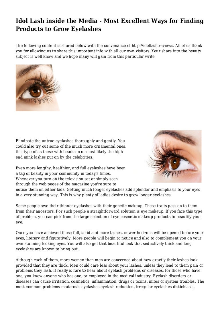 Idol Lash inside the Media - Most Excellent Ways for Finding Products…