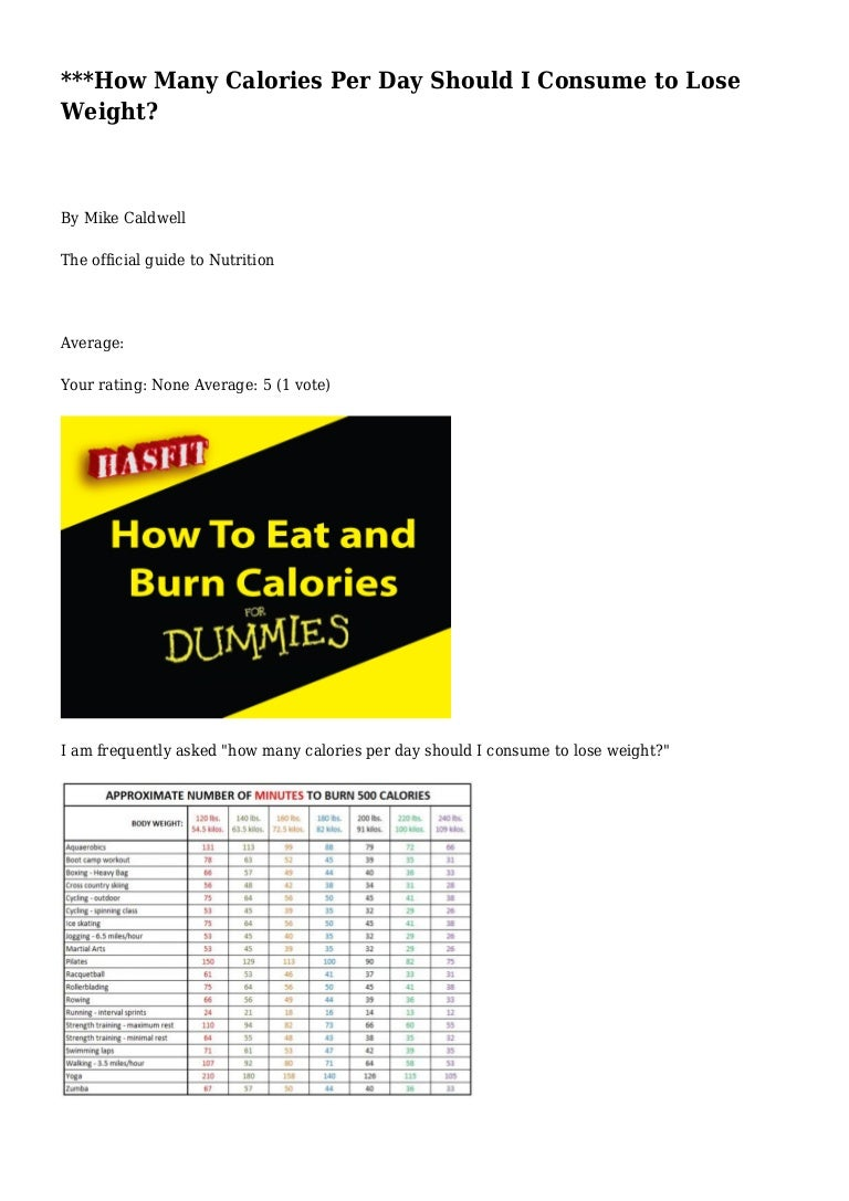 how many calories per day should i consume to lose weight?