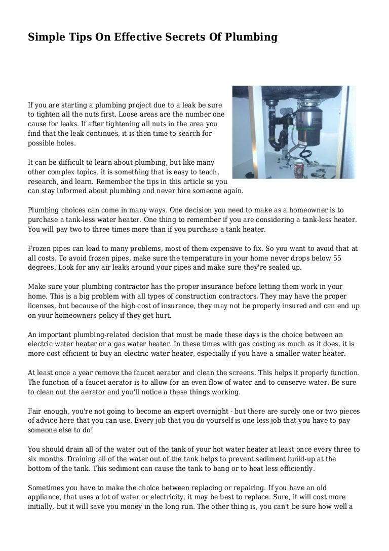 Simple Tips On Effective Secrets Of Plumbing To Troubleshoot Electric Hot Water Heaters You Can Check Out This Tip 14156951065461cb023e20a 141111023901 Conversion Gate02 Thumbnail 4cb1415673550