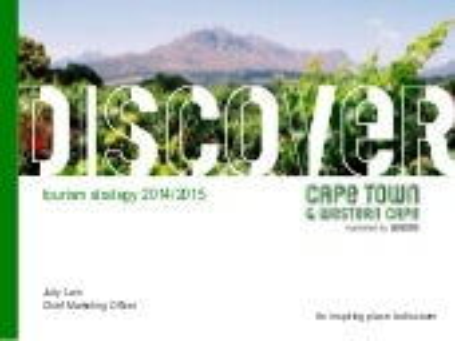 Wesgro: Western Cape Tourism Marketing Plan 2014/2015