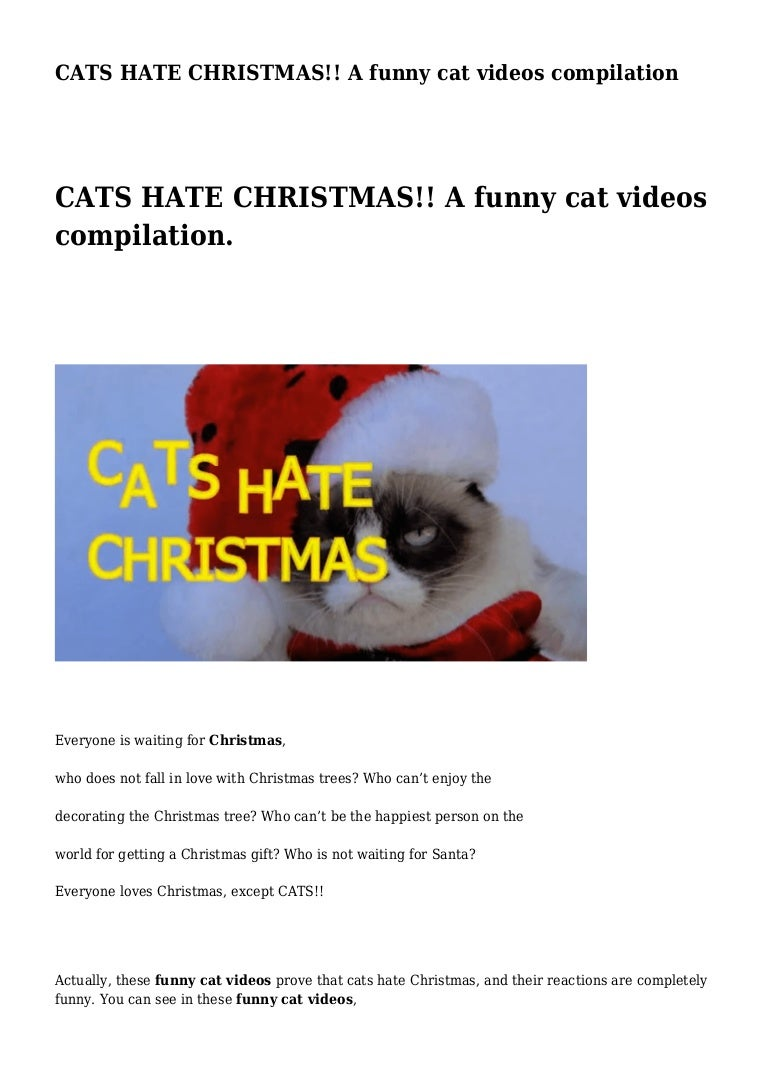 CATS HATE CHRISTMAS!! A funny cat videos compilation