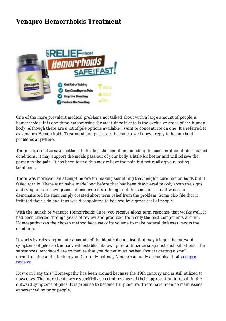 Venapro Hemorrhoids Treatment