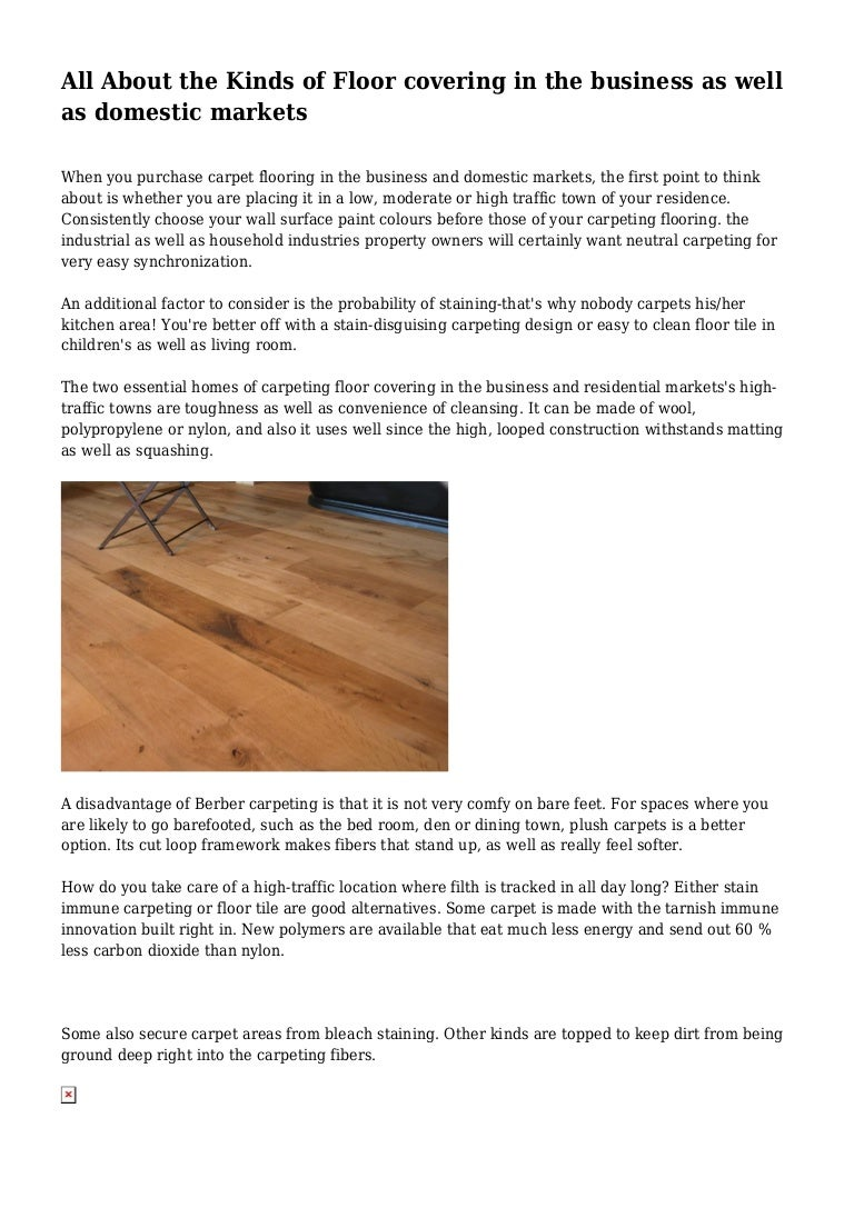 Image of: All About The Kinds Of Floor Covering In The Business As Well As Dome