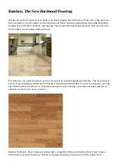 Prefab Bamboo Flooring
