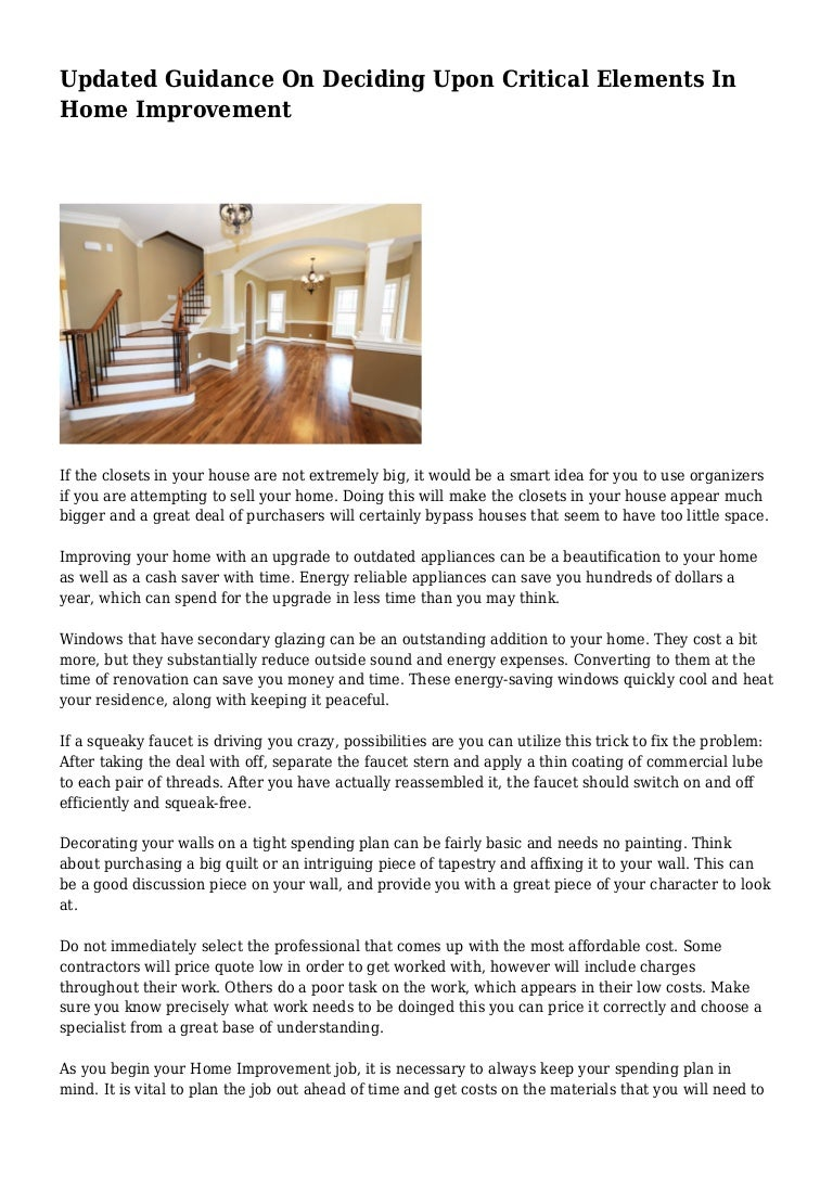 Updated Guidance On Deciding Upon Critical Elements In Home Improveme The Real Truth Behind Household Power Savers Eep