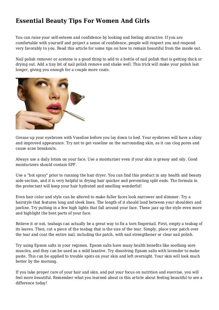 Essential Beauty Tips For Women And Girls