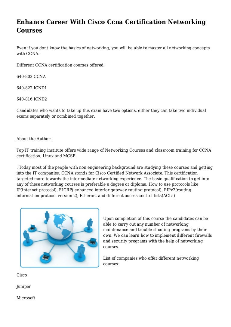 Enhance career with cisco ccna certification networking courses 1betcityfo Gallery