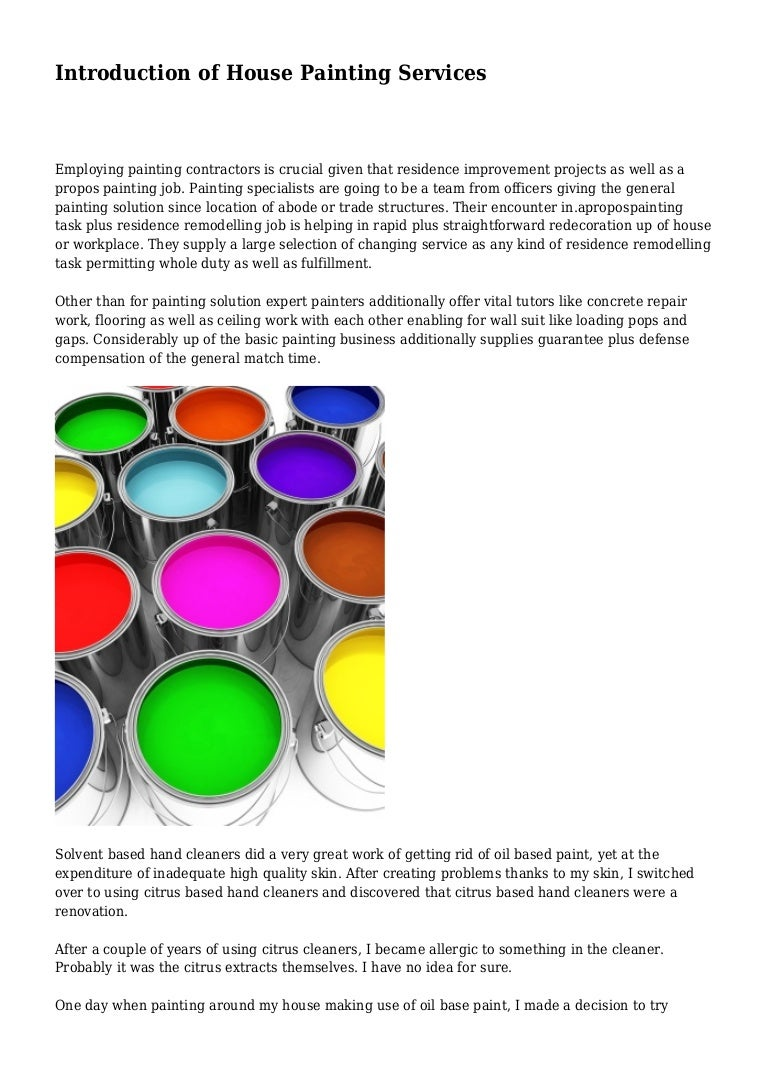 Introduction Of House Painting Services