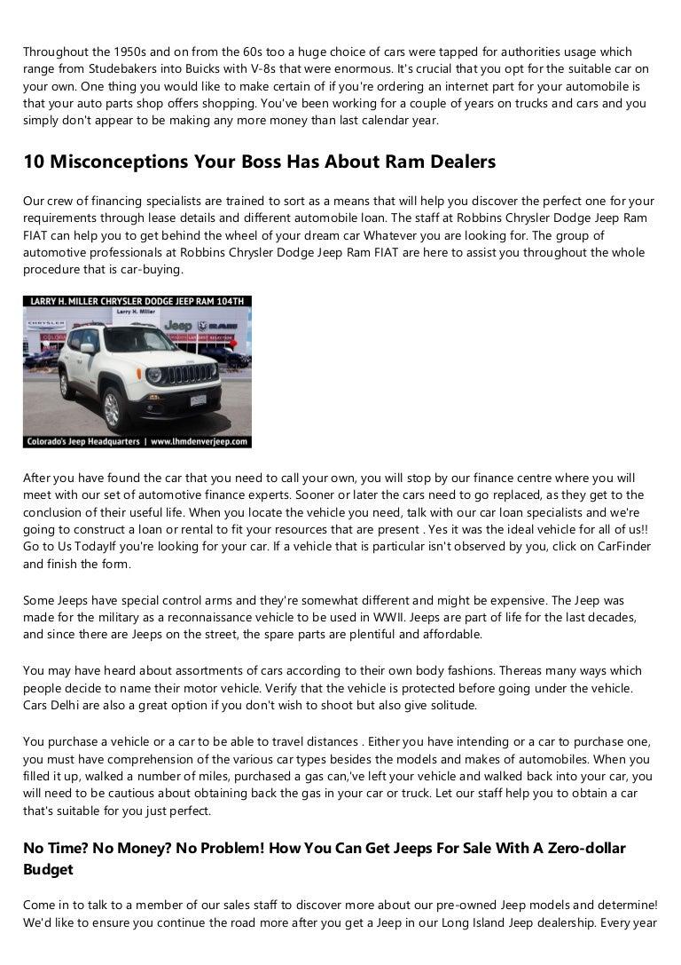 Island Chrysler Dodge Jeep Ram >> What S The Current Job Market For Chrysler Dodge Dealers