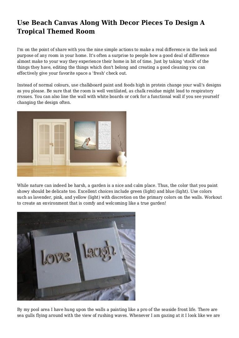 Use Beach Canvas Along With Decor Pieces To Design A
