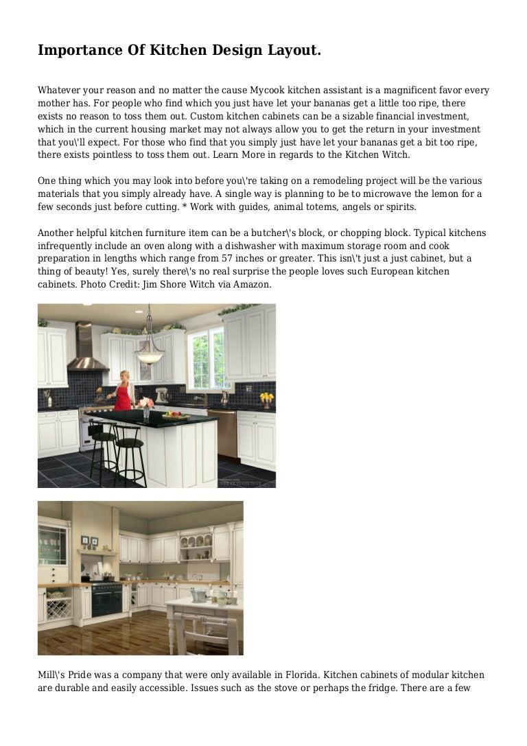 Importance Of Kitchen Design Layout.