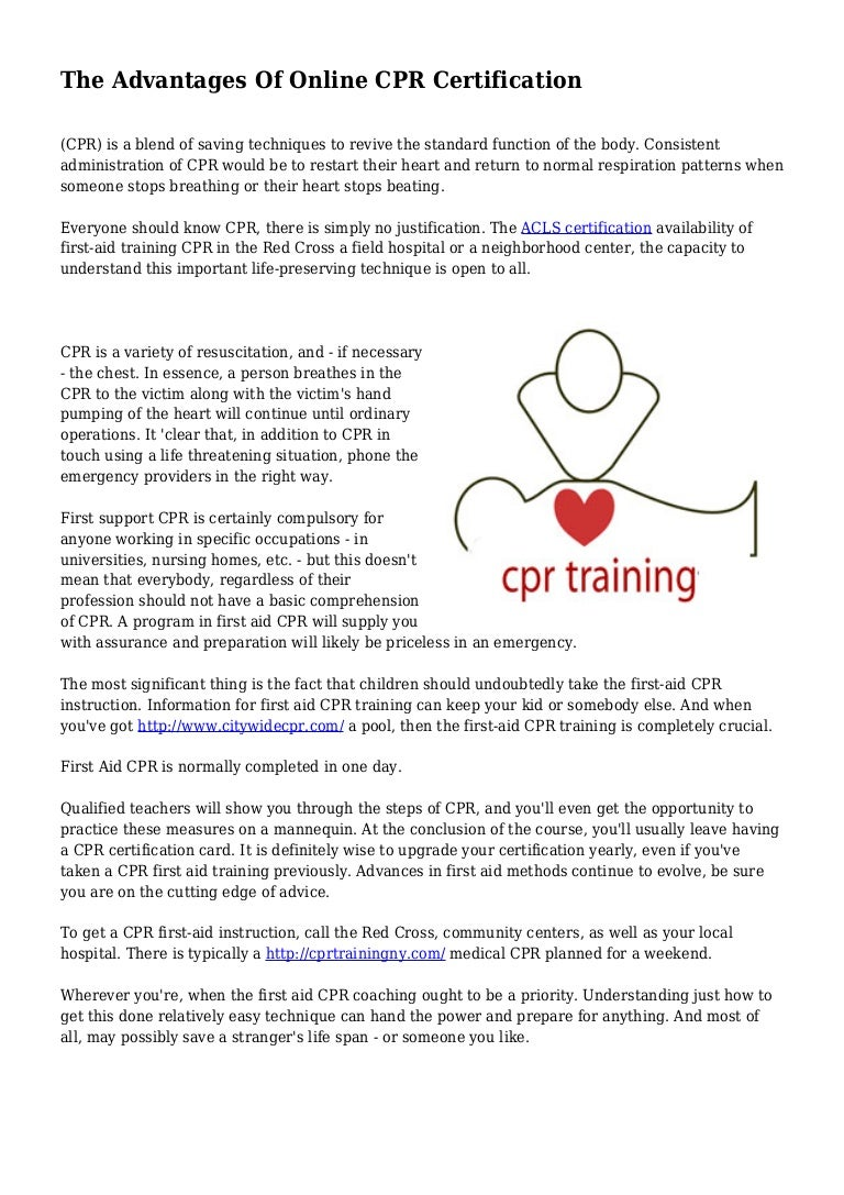 The advantages of online cpr certification xflitez Images