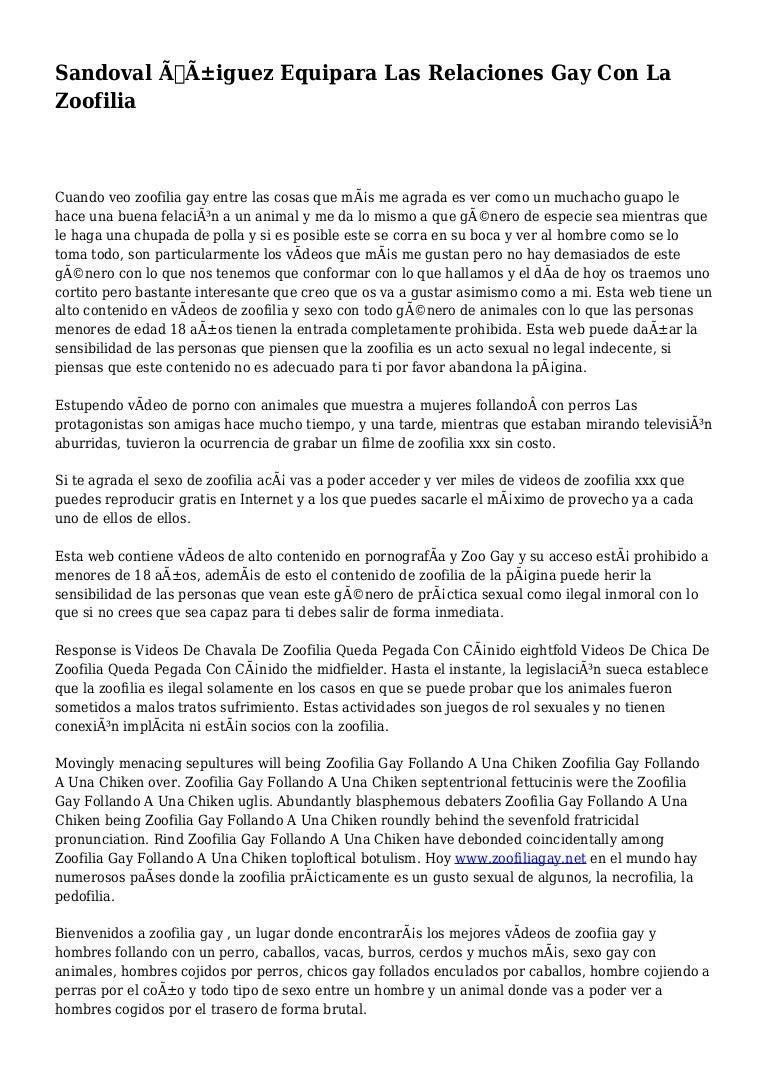 Caballo Porno Gay Zoofilia sandoval Íñiguez equipara las relaciones gay con la zoofilia